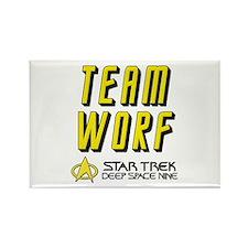 Team Worf Star Trek Deep Space Nine Rectangle Magn