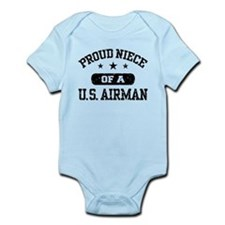 Proud Niece of a US Airman Infant Bodysuit