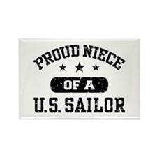 Proud Niece of a US Sailor Rectangle Magnet