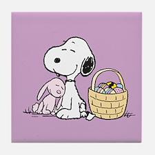 Beagle and Bunny Tile Coaster