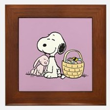 Beagle and Bunny Framed Tile