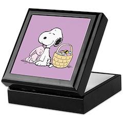 Beagle and Bunny Keepsake Box