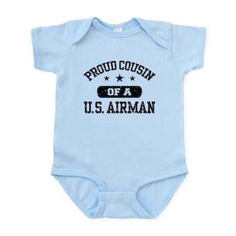Proud Cousin of a US Airman Infant Bodysuit