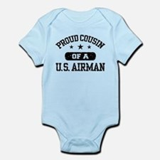 Proud Cousin of a US Airman Infant Bodysuit