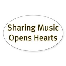 Sharing Music Opens Hearts Decal