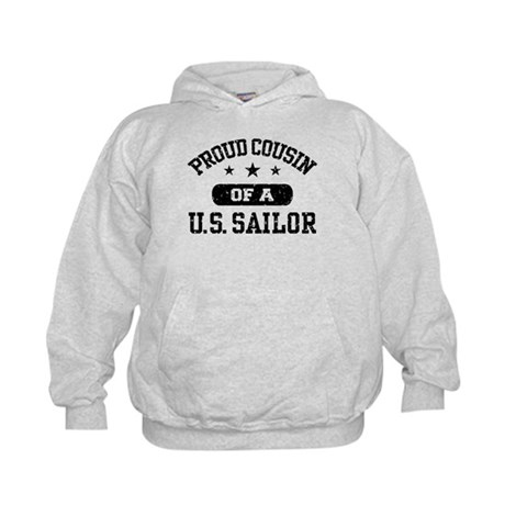 Proud Cousin of a US Sailor Kids Hoodie