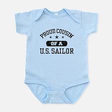 Proud Cousin of a US Sailor Infant Bodysuit