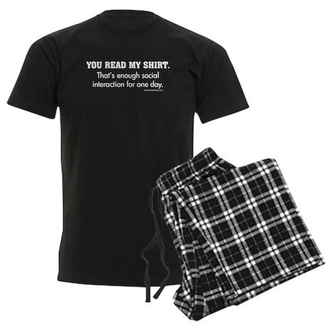You Read My Shirt Men's Dark Pajamas