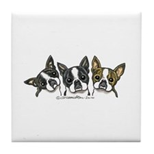 Three Bostons Tile Coaster