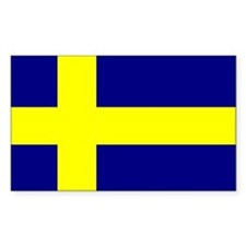 Flag of Sweden Rectangle Decal