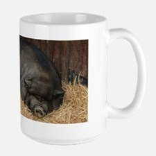 Pot Bellied Pigs Large Mug