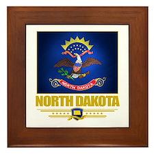 North Dakota Pride Framed Tile
