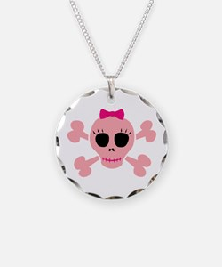 Funny Pink Skull Necklace