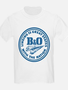 Baltimore and Ohio 13 states railway desig T-Shirt