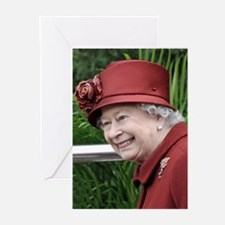 HRH QUEEN ELIZABETH II Greeting Cards