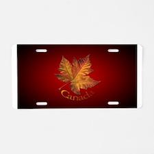 Canada Maple Leaf Aluminum License Plate