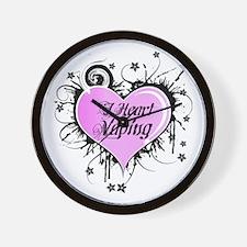 I Heart Vaping Wall Clock