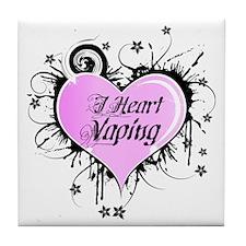 I Heart Vaping Tile Coaster