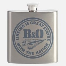 Baltimore and Ohio 13 states railway design Flask