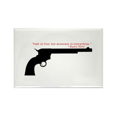 Wyatt Earp Quote Rectangle Magnet (10 pack)