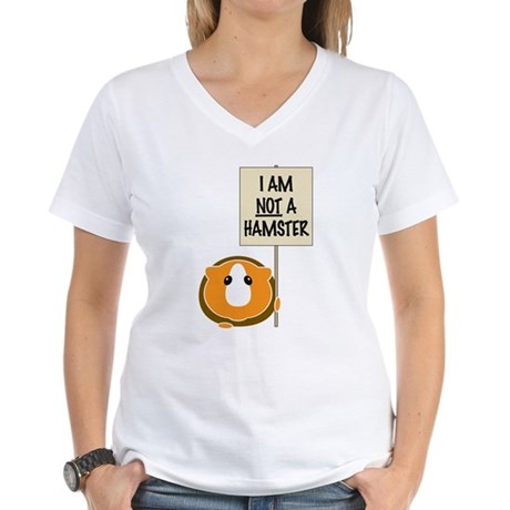 I am Not a Hamster Women's V-Neck T-Shirt