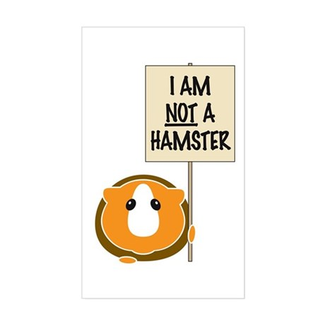 I am Not a Hamster Sticker (Rectangle)