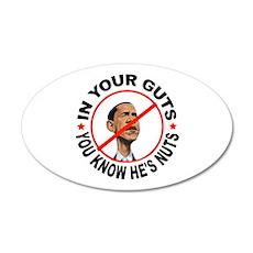 STICK IT IN YOUR EAR 22x14 Oval Wall Peel
