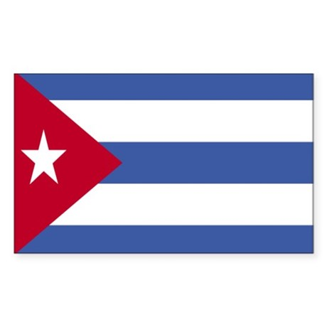 Cuban Flag Rectangle Sticker