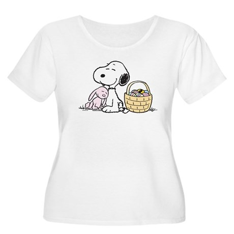 Beagle and Bunny Women's Plus Size Scoop Neck T-Sh