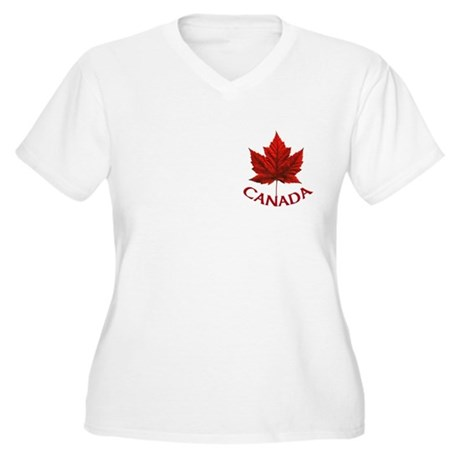 Canada Souvenir Women's Plus Size V-Neck T-Shirt