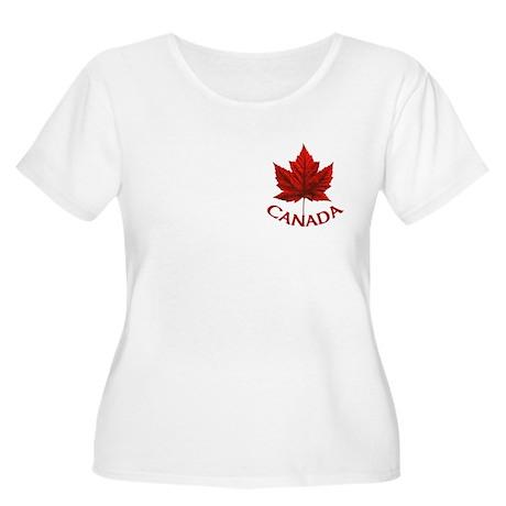 Canada Women's Scoop Neck Plus Size T-Shirt