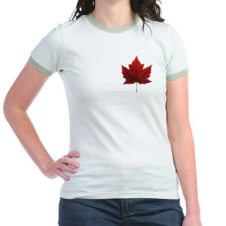 Canada Jr. Ringer T-Shirt Women's Canada Shirts