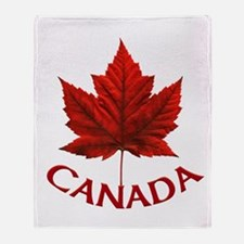 Canada Souvenir Throw Blanket Cool Maple Leaf Gift