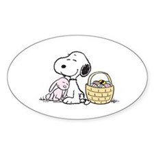 Beagle and Bunny Sticker (Oval)