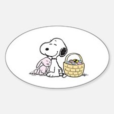Beagle and Bunny Sticker (Oval)
