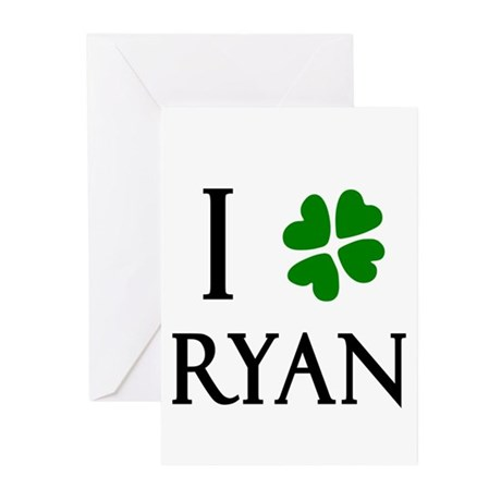 """""""I Heart/Luck Ryan"""" Greeting Cards (Pk of 10)"""