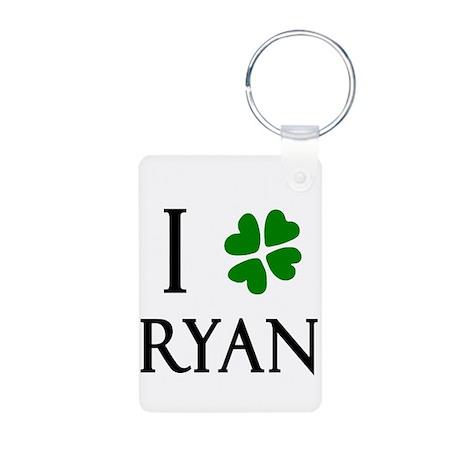 """I Heart/Luck Ryan"" Aluminum Photo Keychain"