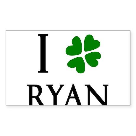 """I Heart/Luck Ryan"" Sticker (Rectangle)"