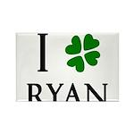 """""""I Heart/Luck Ryan"""" Rectangle Magnet (100 pack)"""