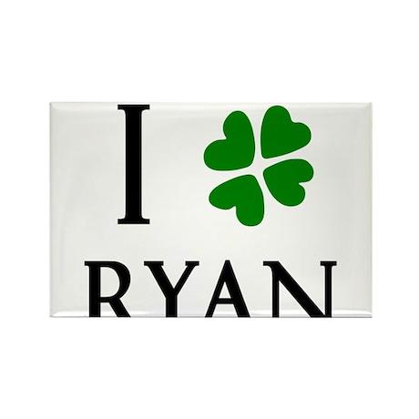 """""""I Heart/Luck Ryan"""" Rectangle Magnet"""