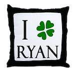 """""""I Heart/Luck Ryan"""" Throw Pillow"""