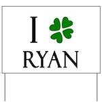 """""""I Heart/Luck Ryan"""" Yard Sign"""