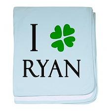 """I Heart/Luck Ryan"" baby blanket"