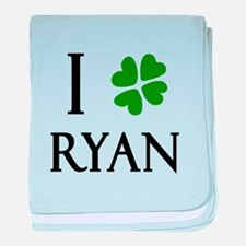 """I Heart/Luck Ryan"" baby blanket"