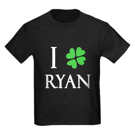 """I Heart/Luck Ryan"" Kids Dark T-Shirt"