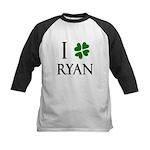 """I Heart/Luck Ryan"" Kids Baseball Jersey"