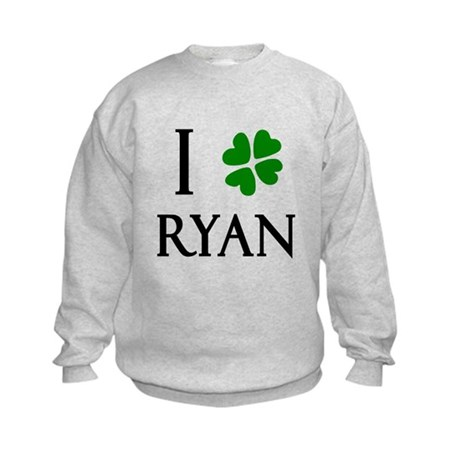 """I Heart/Luck Ryan"" Kids Sweatshirt"