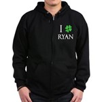 """I Heart/Luck Ryan"" Zip Hoodie (dark)"