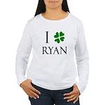 """""""I Heart/Luck Ryan"""" Women's Long Sleeve T-Shirt"""