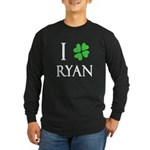 """I Heart/Luck Ryan"" Long Sleeve Dark T-Shirt"